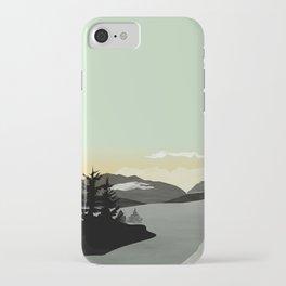 Clear iPhone Case - Misty Mountain II - Schwebewesen • Romina Lutz