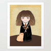 Kokeshi Hermi Art Print