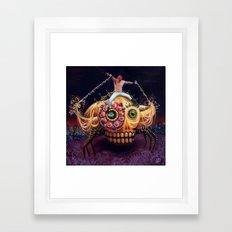 High-fly at the sunset Framed Art Print