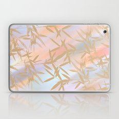 Floating Golden Leaves Abstract Laptop & iPad Skin