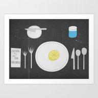 Everything Lemon - Analo… Art Print