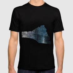 Taking The Evening Train… Mens Fitted Tee Black SMALL