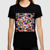 Pixels Womens Fitted Tee Black SMALL