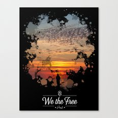 Sunset poster Canvas Print