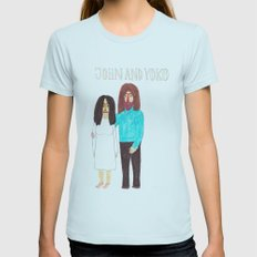 John & Yoko Womens Fitted Tee Light Blue SMALL