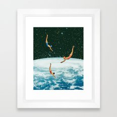 Space Jumps Framed Art Print