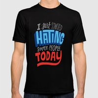 hating People Mens Fitted Tee Black SMALL