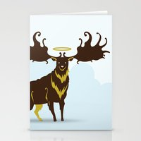 God's Zoo: Irish Elk Stationery Cards