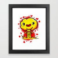 War Is Love Framed Art Print