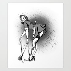Sweeping you under Art Print