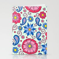 Light Mint Floral Stationery Cards