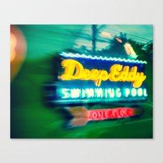 Deep Eddy Swim Neon Sign Canvas Print