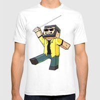 Block Sighted - Minecraf… Mens Fitted Tee White SMALL