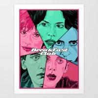 Breakfast Club Colors Art Print