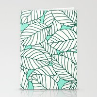 Sweet Leafs: Mint Stationery Cards