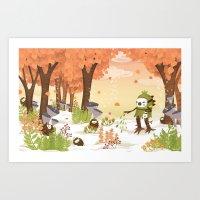 Cloudseeders Autumn Harv… Art Print