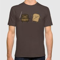 Slice! Mens Fitted Tee Brown SMALL