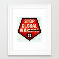 STOP GLOBAL MING ! Framed Art Print