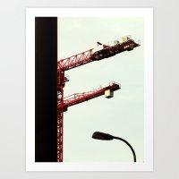 Red Crane Art Print