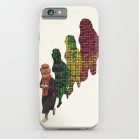 iPhone Cases featuring Haunted by His Digital Past by Computarded