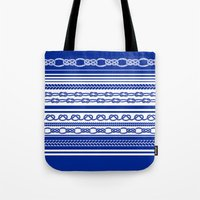 NAUTIC KNOTS: COBALT BLUE Tote Bag