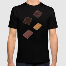 Choc It To Me SMALL Mens Fitted Tee Black