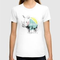 //RINO Womens Fitted Tee White SMALL