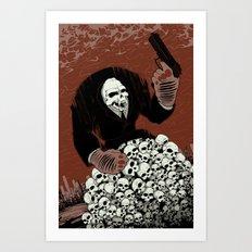 Monkey Skull Suit Art Print