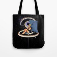 Chillin At The Space Sta… Tote Bag