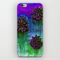 Electric Water Lilies 2 iPhone & iPod Skin