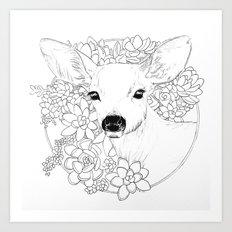 I Deerly Love You Art Print