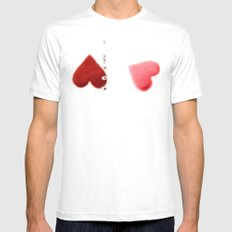 love train SMALL White Mens Fitted Tee