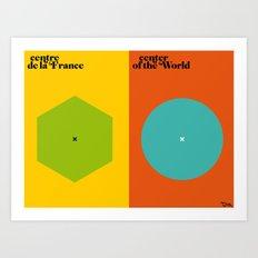 l'influence Art Print