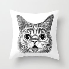 Tongue Out Cat Throw Pillow