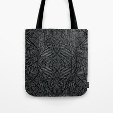 Ab Lace Black and Grey Tote Bag