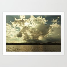 the sky that day Art Print