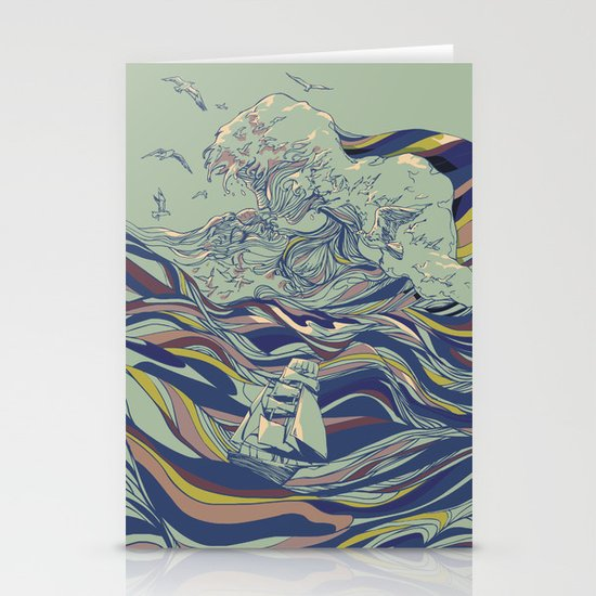 OCEAN AND LOVE Stationery Card