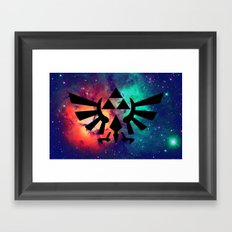 The Legend of Zelda Triforce Multicolored Stars Framed Art Print