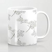 Japanese Trees ( Japan, Asia, Black-White, Delicate, Elegant print ) Mug