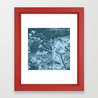 Summer Wasting Framed Art Print