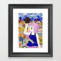 Bird Girl Framed Art Print