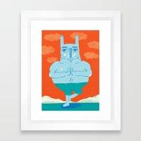 Zen Rabbit Framed Art Print