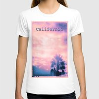 California Pink Womens Fitted Tee White SMALL