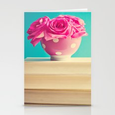 Book and flowers Stationery Cards