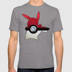 Retro Chrome pokeball iPhone 4 4s 5 5c, ipod, ipad, pillow case tshirt and mugs Mens Fitted Tee Tri-Grey SMALL