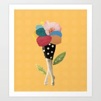 all flowers in time bend towards the sun Art Print