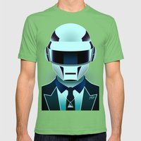 Daft Punk Mens Fitted Tee Grass SMALL