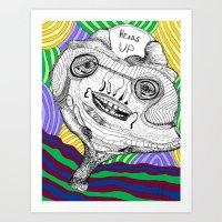 Heads Up Art Print