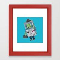 Game Man Framed Art Print