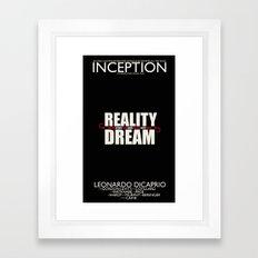 Inception Poster Framed Art Print